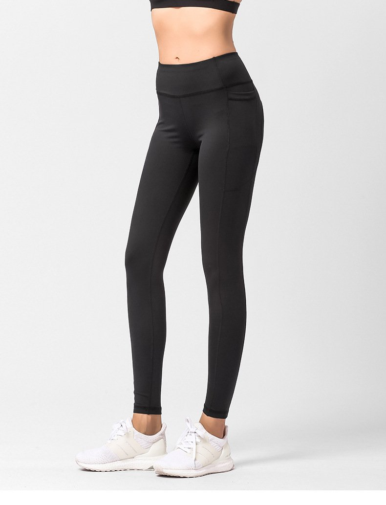 Women's leggings with pockets, fitness quick-drying hip pants.JK01 model 009